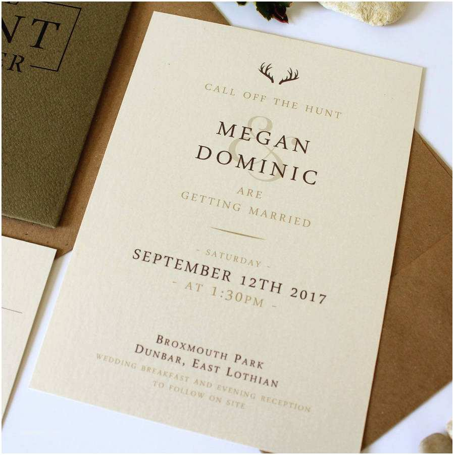 The Hunt is Over Wedding Invitations the Hunt is Over Stag Pocket Wedding Invitation Suite by