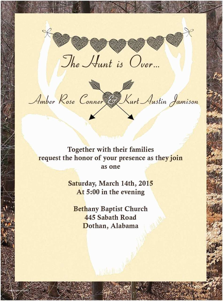 The Hunt is Over Wedding Invitations the Hunt is Over Wedding Invitations 12 Minimum