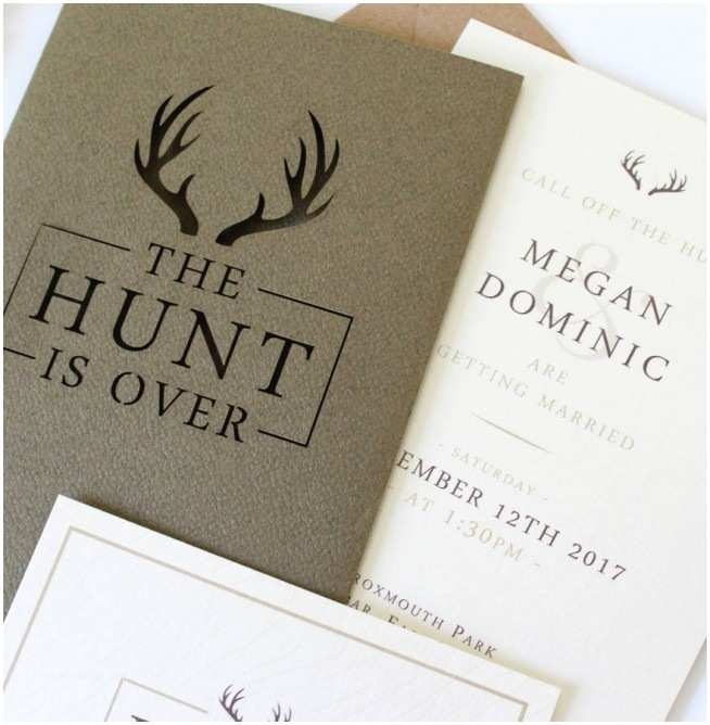 The Hunt is Over Wedding Invitations the Hunt is Over Wedding Invitations Weddi with Deer Pink