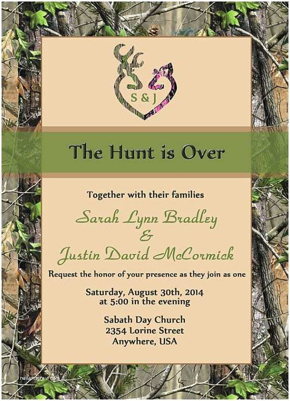 The Hunt is Over Wedding Invitations Wedding Invitation Templates the Hunt is Over Wedding