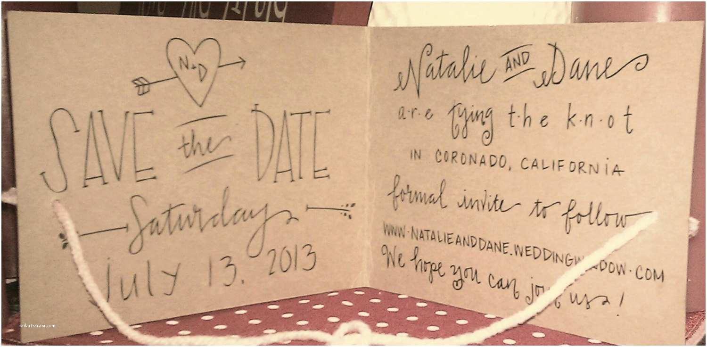 The Knot Wedding Invitations Custom Kraft Tie the Knot Save the Date Wedding