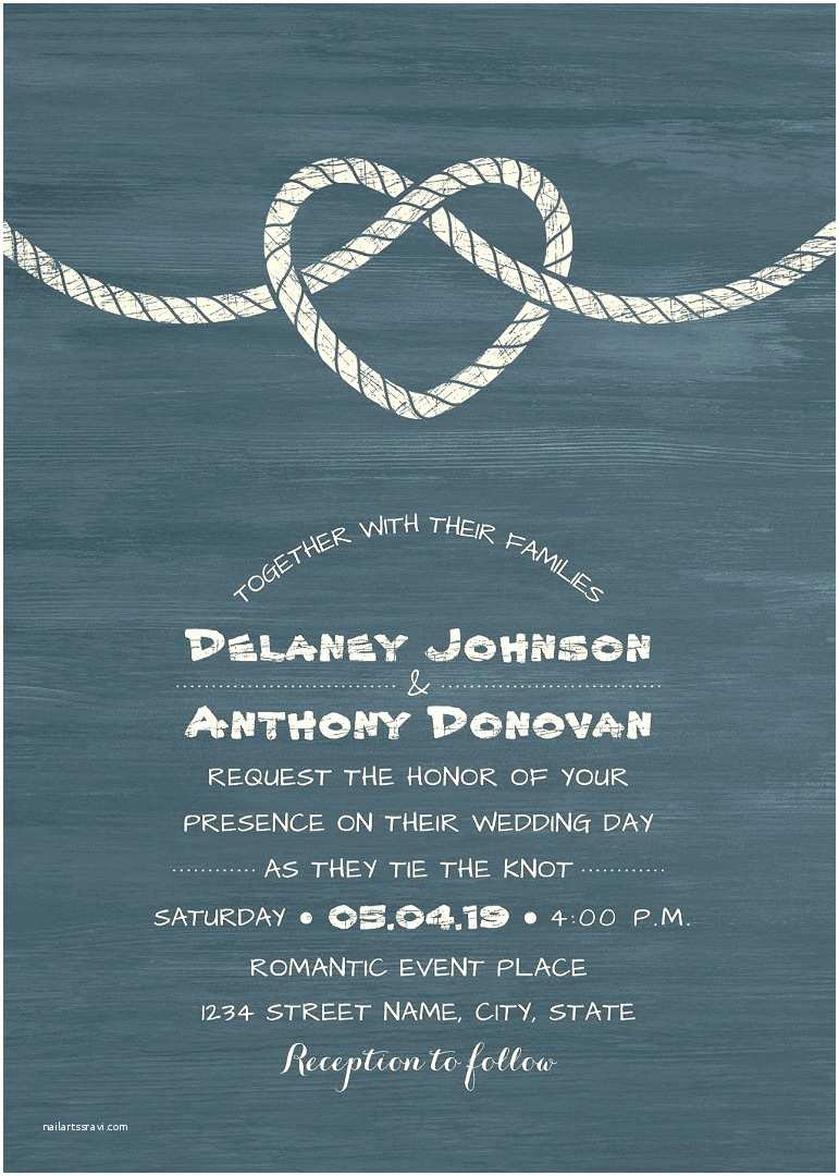 The Knot Wedding Invitations Tie the Knot Wedding Invitations Modern Beach or