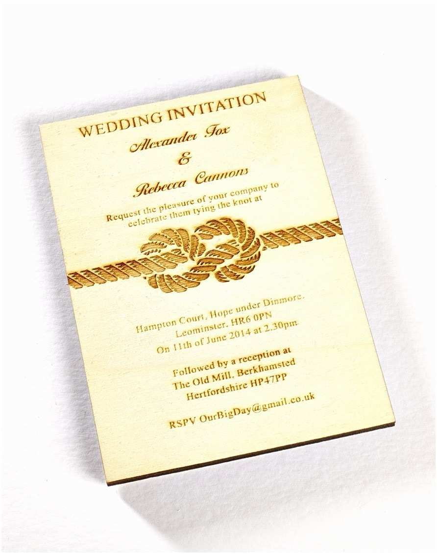 The Knot Wedding Invitations Tie the Knot Wooden Invitation