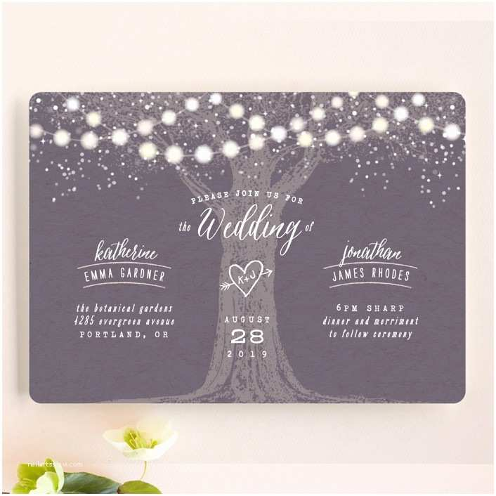 The Mint Wedding Invitations Garden Lights Wedding Invitations by Hooray Creative