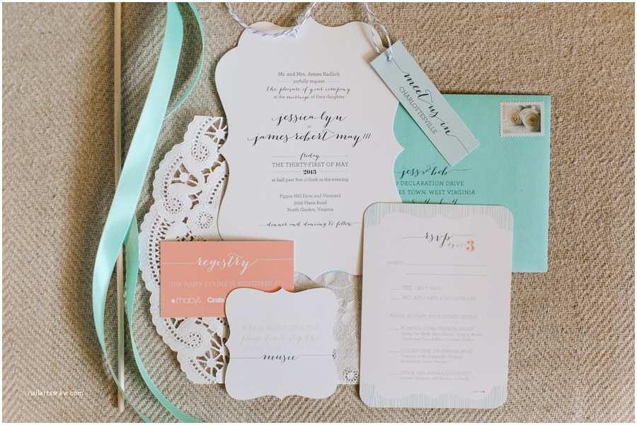 The Mint Wedding Invitations Our Mint & Coral Wedding Invitations Jess Creates