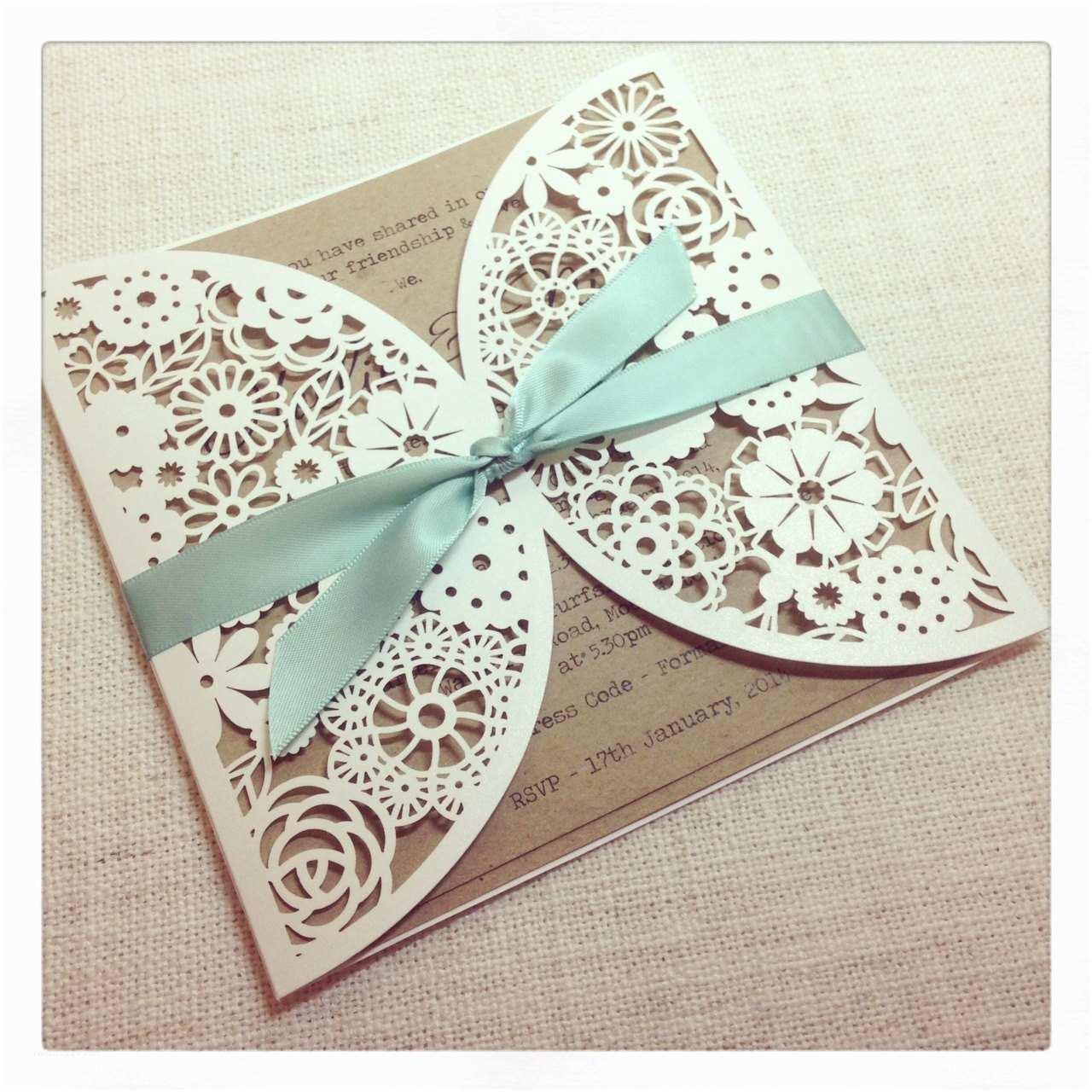 The Mint Wedding Invitations Rustic Mint Laser Cut Wedding Invitation – Laser Cut
