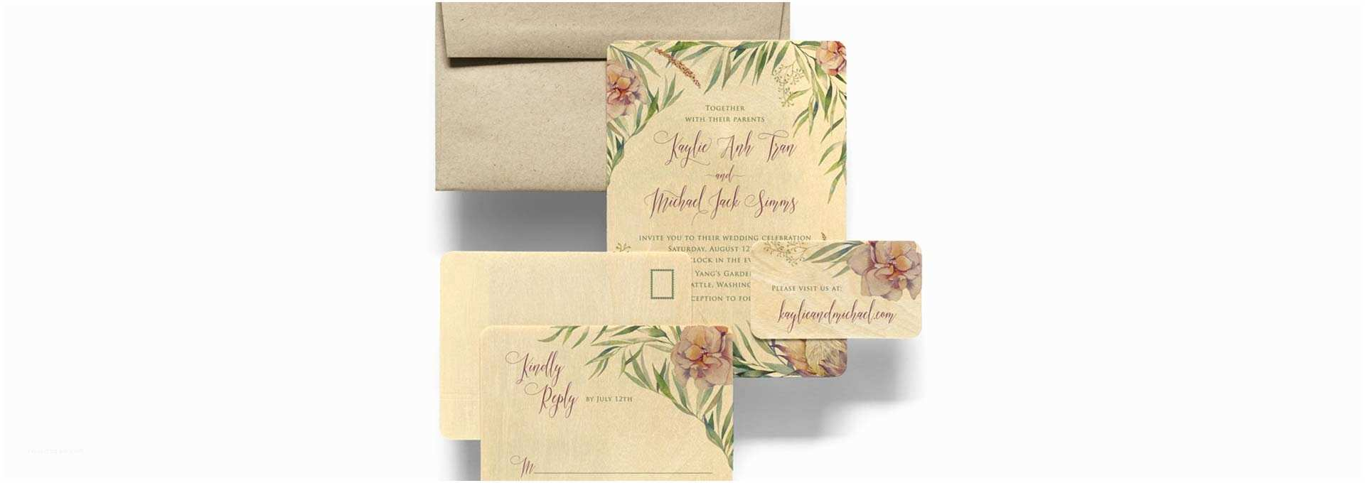 The Most Beautiful Wedding Invitations Engraved Wooden Wedding Invites