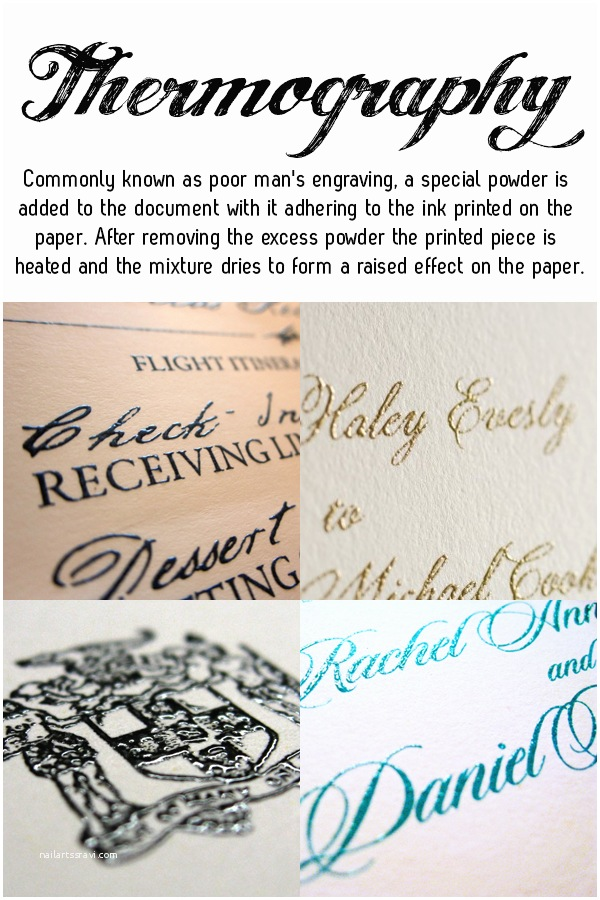 Thermography Wedding Invitations Different Styles Of Wedding Stationery