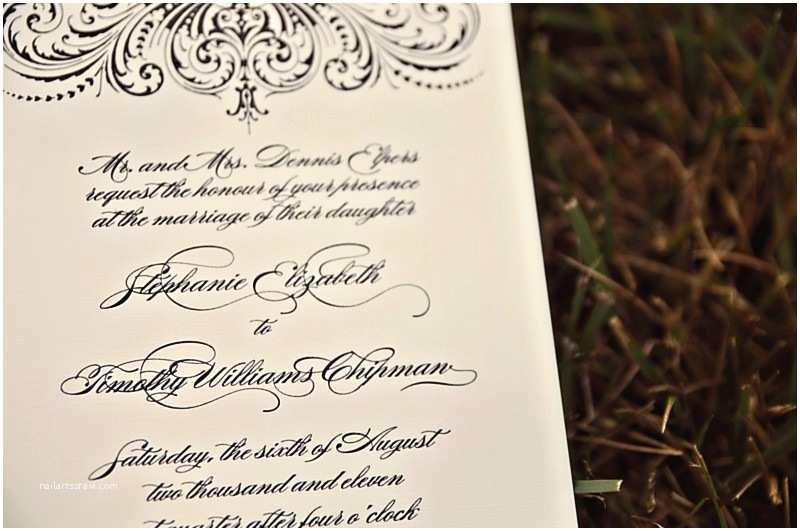 Thermography Wedding Invitations Elegant Black thermography Wedding Invitations