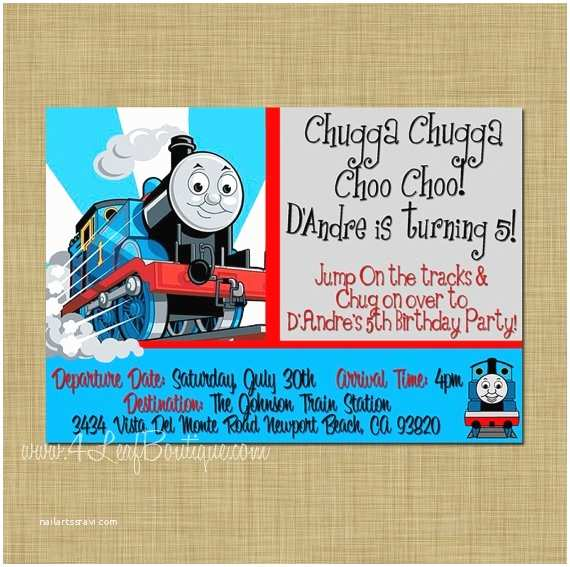 Thomas the Train Birthday Invitations 35 Best Images About Train Party On Pinterest