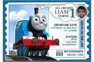 Thomas the Train Birthday Invitations 9 Train Birthday
