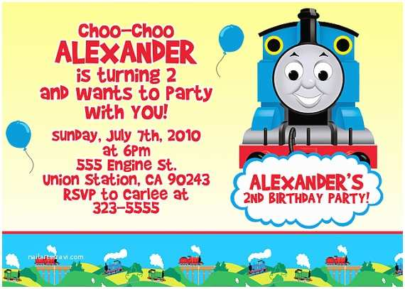 Thomas the Train Birthday Invitations attractive Thomas the Train Birthday Invitation Ideas