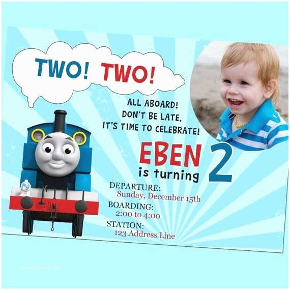 Thomas the Train Birthday Invitations Example Thomas the Train Birthday Invitations Design