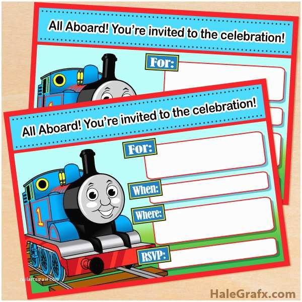 Thomas the Train Birthday Invitations Free Printable Thomas the Tank Engine Birthday Invitation