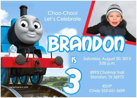 Thomas the Train Birthday Invitations Items Similar to Thomas the Train Birthday Party