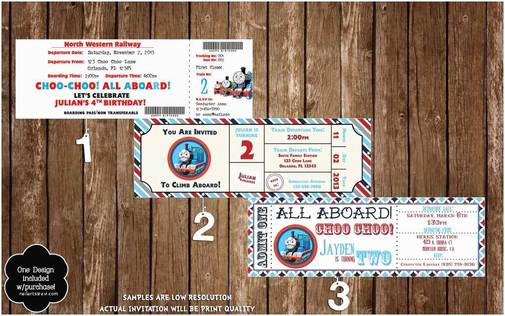 Thomas the Train Birthday Invitations Novel Concept Designs Thomas the Train Birthday Ticket