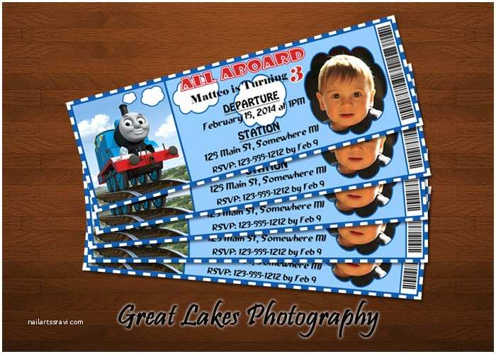 Thomas The Train Birthday Invitations Personalized Ticket By