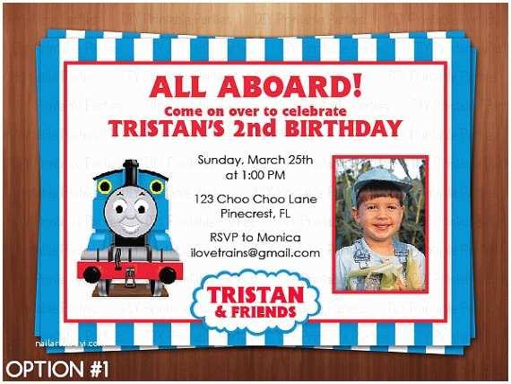 Thomas the Train Birthday Invitations Printable Diy Blue and Red Thomas the Train by