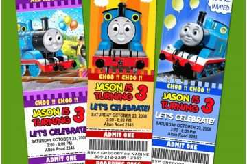 Thomas the Train Birthday Invitations Thomas the Tank Train