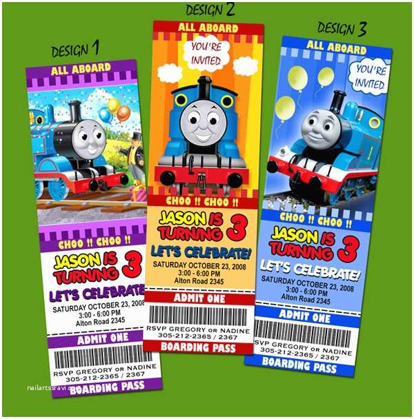 Thomas the Train Birthday Invitations Thomas the Tank Train Engine Birthday Party Invitation