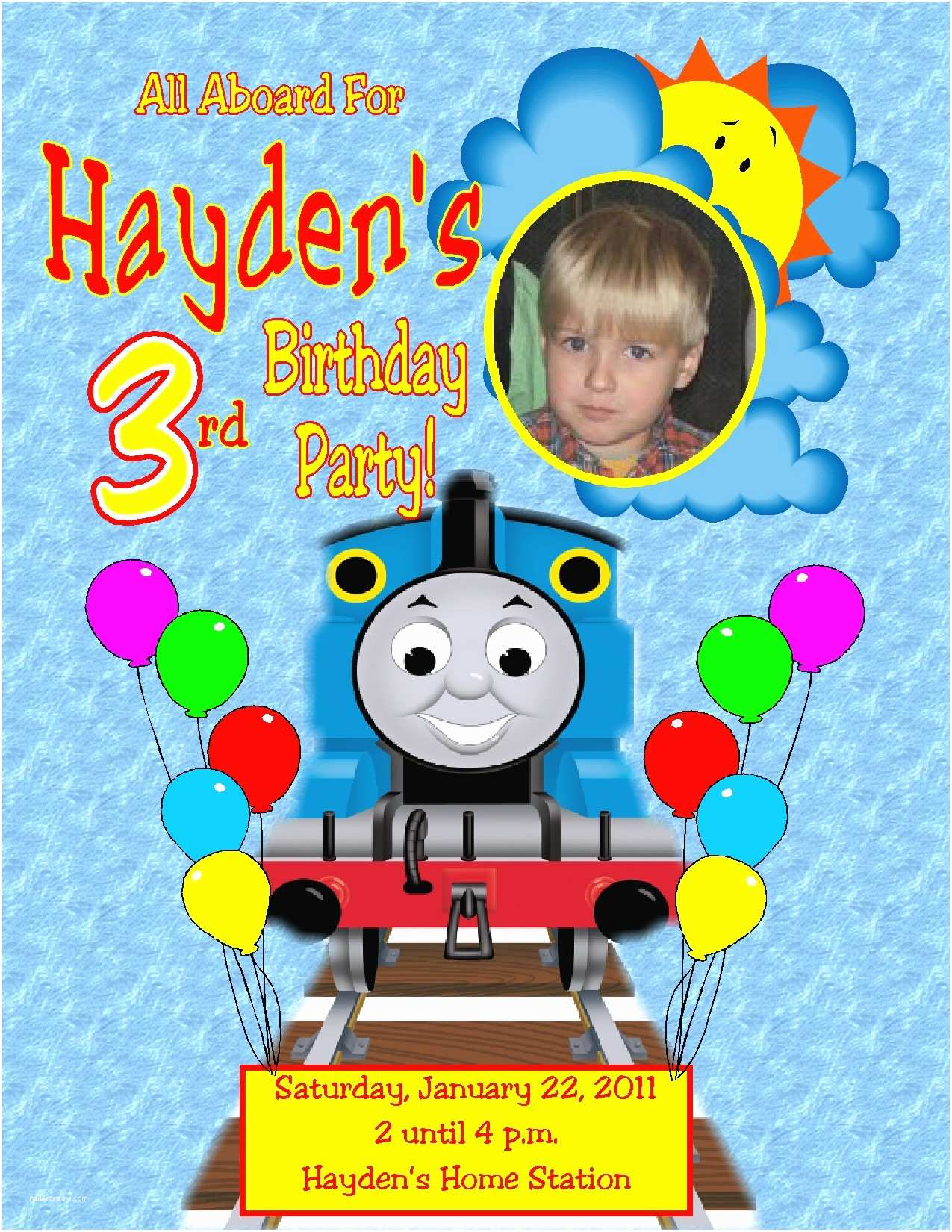 Thomas the Train Birthday Invitations Thomas the Train All Aboard Birthday Invitation $1 09