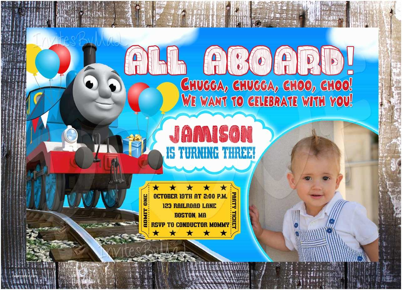Thomas the Train Birthday Invitations Thomas the Train Birthday Invitation by Invitesbymal On Etsy