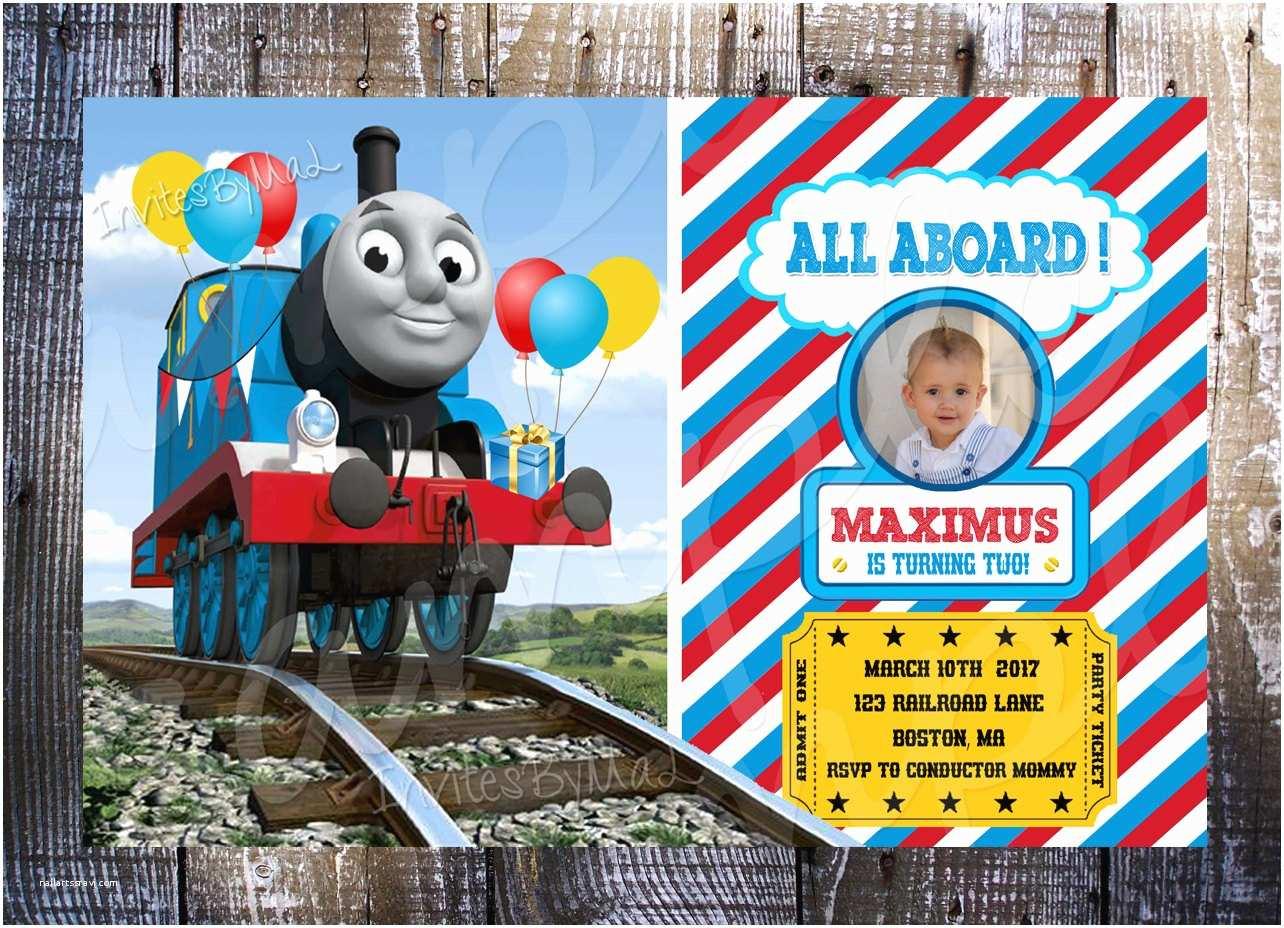 Thomas the Train Birthday Invitations Thomas the Train Birthday Invitation with or by Invitesbymal