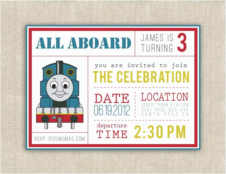 Thomas the Train Birthday Invitations Thomas the Train Birthday Invitations – Gangcraft