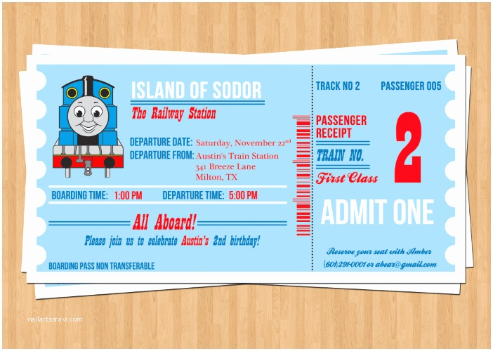 Thomas The Train Birthday Invitations Gangcraft
