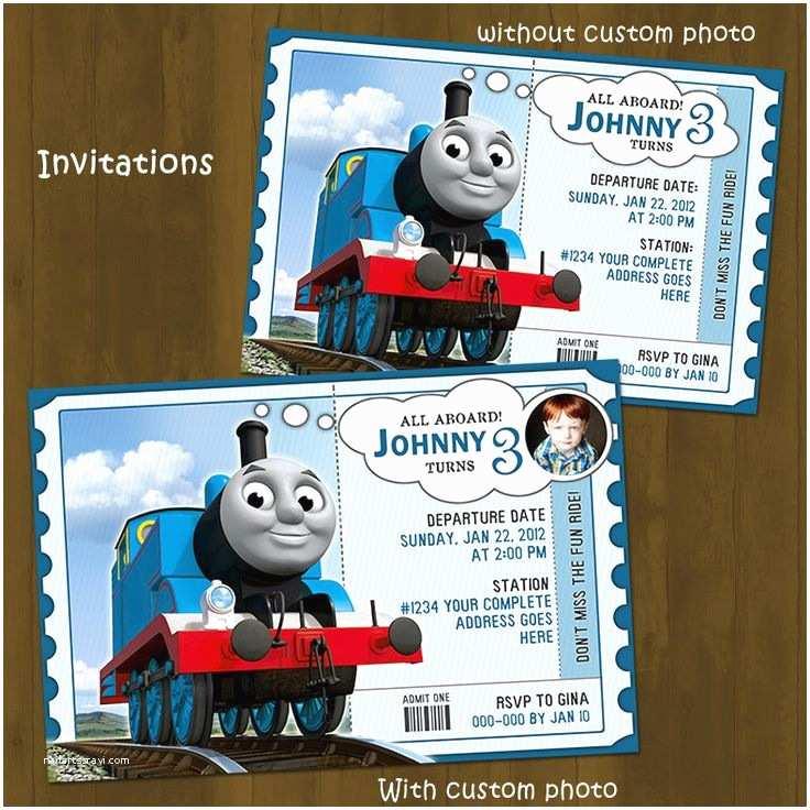 Thomas the Train Birthday Invitations Thomas the Train Birthday Invitations