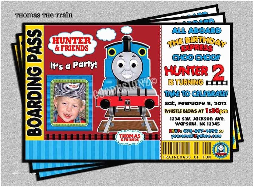 Thomas the Train Birthday Invitations Thomas the Train Birthday Party Invitation