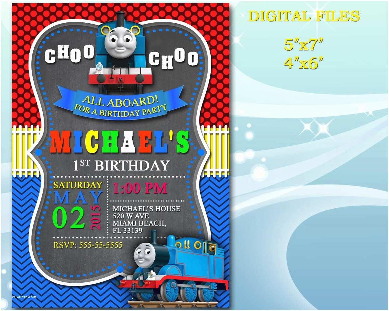 Thomas the Train Birthday Invitations Thomas the Train Invitation for Birthday Party by Diartimage