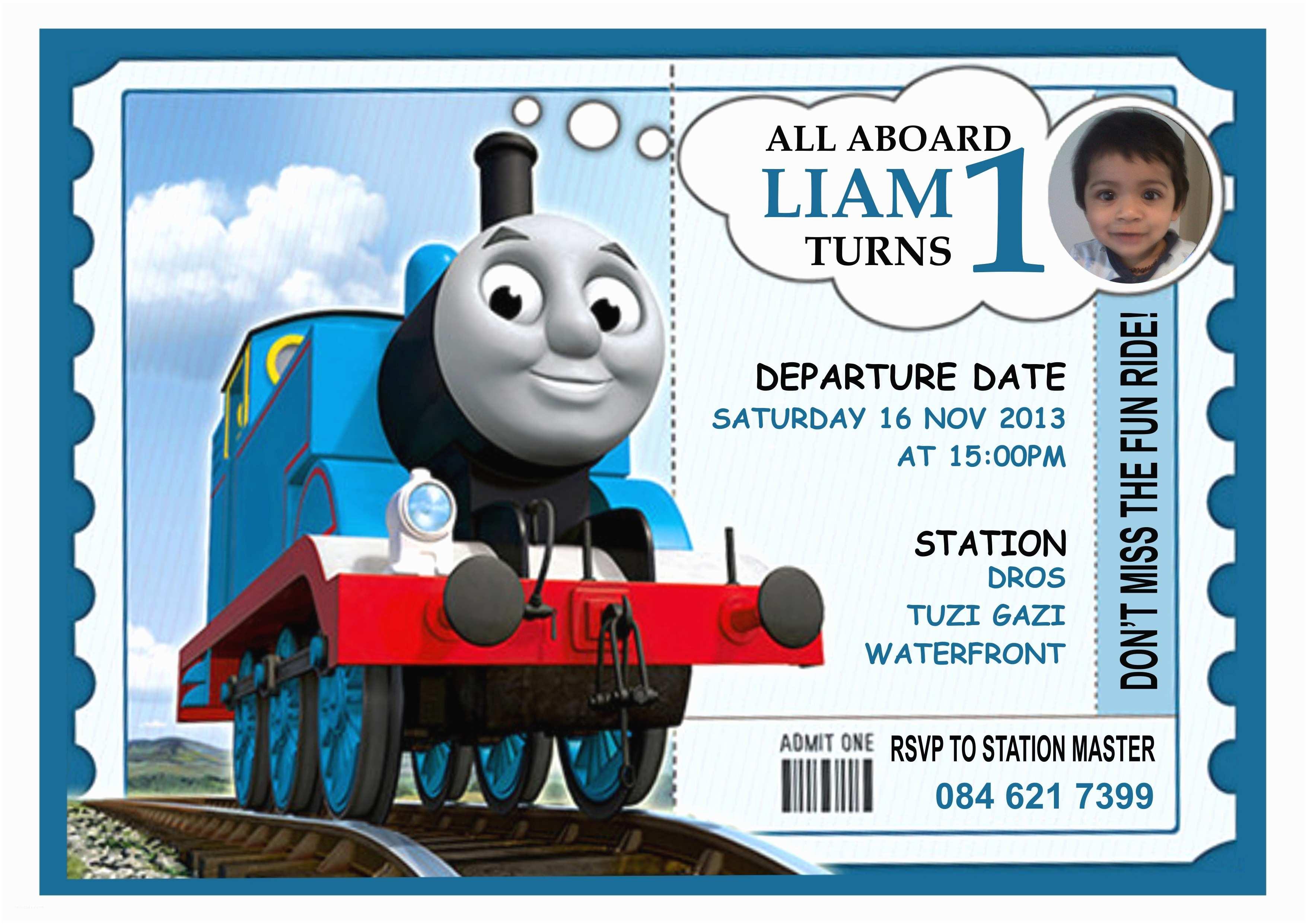 Thomas the Train Birthday Invitations Thomas the Train Invitation Template Baskanai