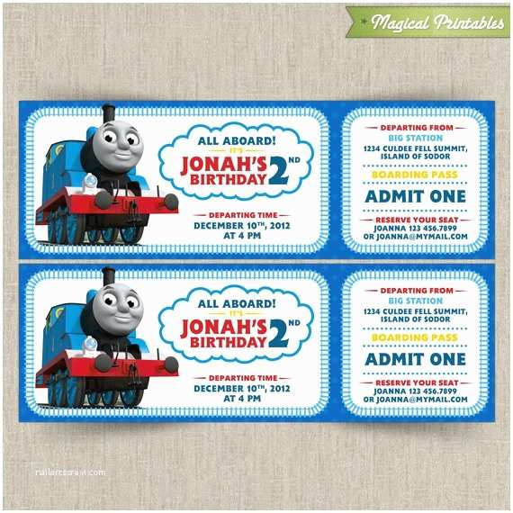 Thomas the Train Birthday Invitations Thomas the Train Invitations