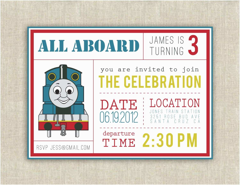 Thomas the Train Birthday Invitations Thomas the Train Party Invitation Printable by