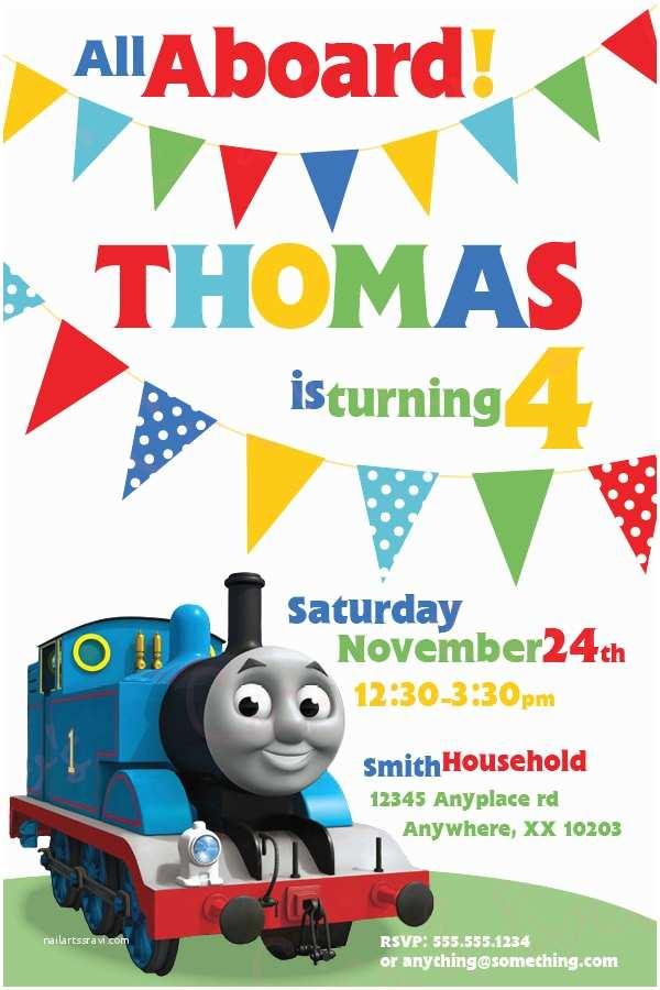 Thomas the Train Birthday Invitations Thomas the Train theme Birthday Invitation Diy by Ciciandbobos