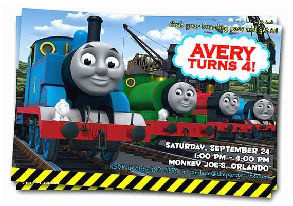 Thomas the Train Birthday Invitations Unavailable Listing On Etsy
