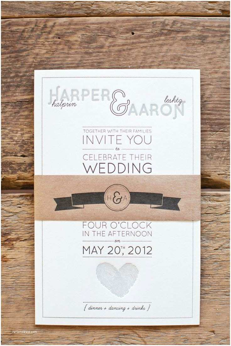 Thumbprint Heart Wedding Invitation 10 Best Invites Images On Pinterest