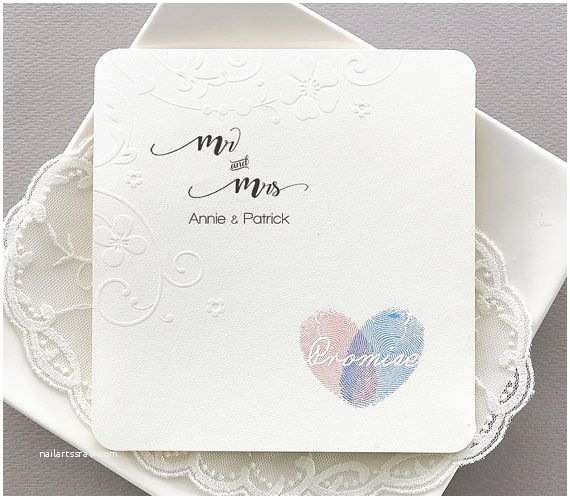 Thumbprint Heart Wedding Invitation 367 Best Wedding Invitation Images On Pinterest