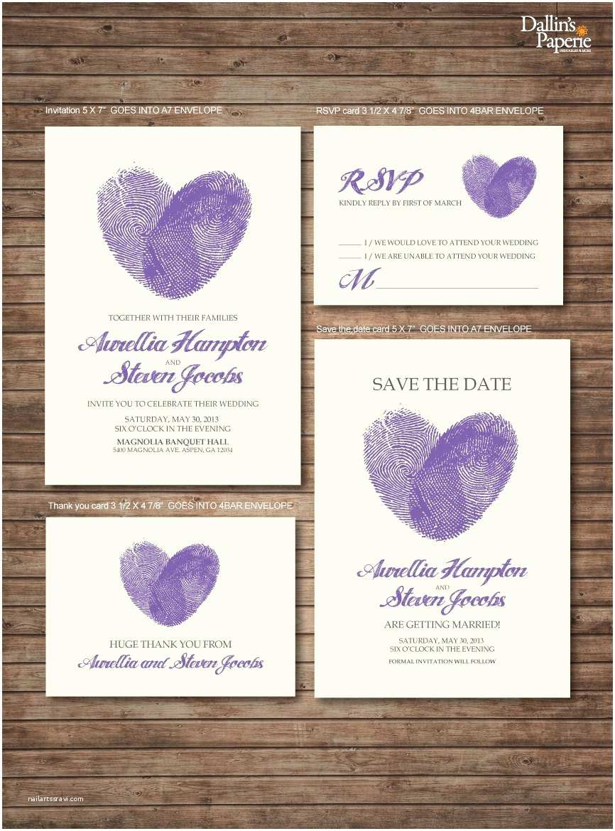 Thumbprint Heart Wedding Invitation Chandeliers & Pendant Lights