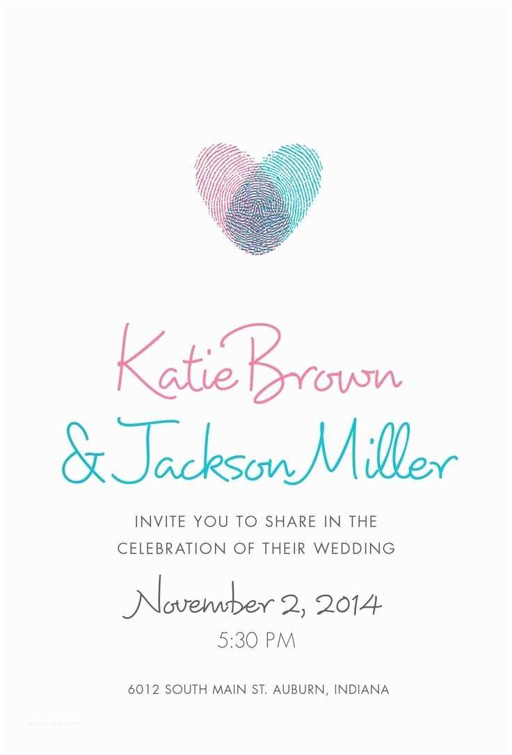 Thumbprint Heart Wedding Invitation Les 43 Meilleures Images Du Tableau Livre D or Sur