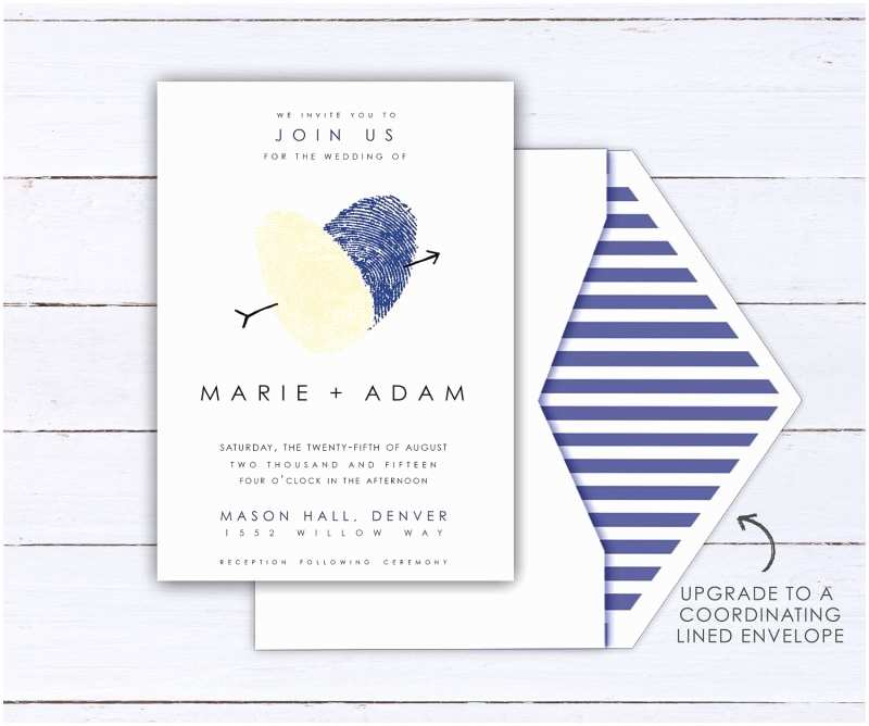 Thumbprint Heart Wedding Invitation Thumbprint Wedding Ideas Creative Handmade Finds