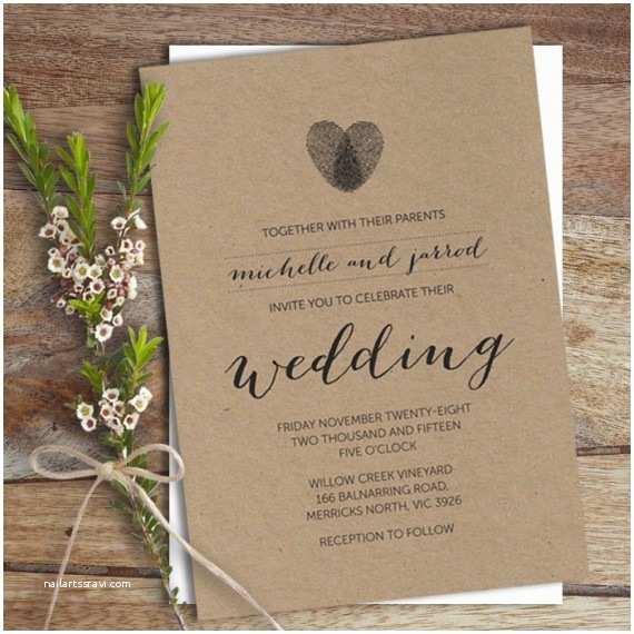 Thumbprint Heart Wedding Invitation Thumbprint Wedding Ideas Creative Handmade Finds