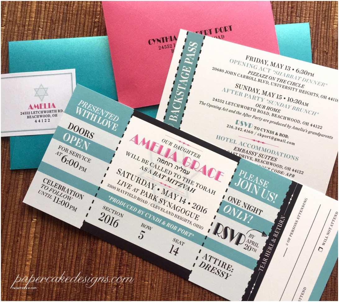 Ticket Stub Wedding Invitations Tickets Sport Concert Travel – Papercake Designs