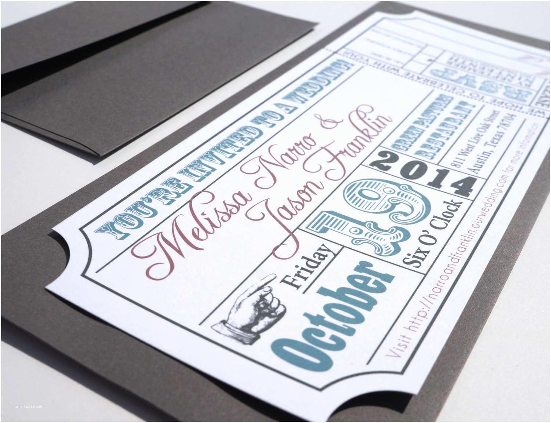 Ticket Wedding Invitations Wedding Invitation Templates Movie Ticket Wedding