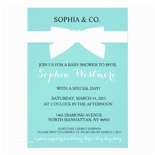 Tiffany Blue Baby Shower Invitations Invitation