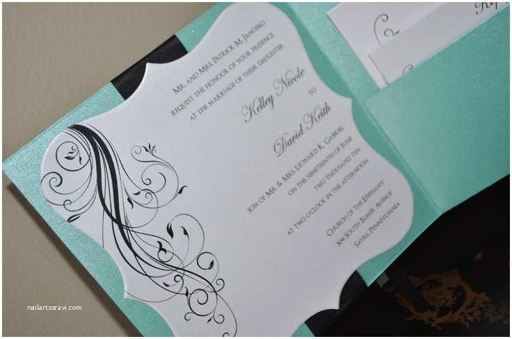 Tiffany Blue Pocket Wedding Invitations Best 25 Tiffany Wedding Invitations Ideas On Pinterest
