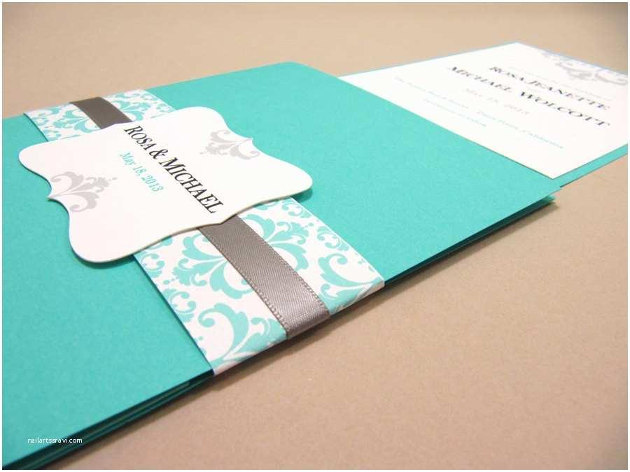 Tiffany Blue Pocket Wedding Invitations Breathtaking Tiffany Blue Wedding Invitations