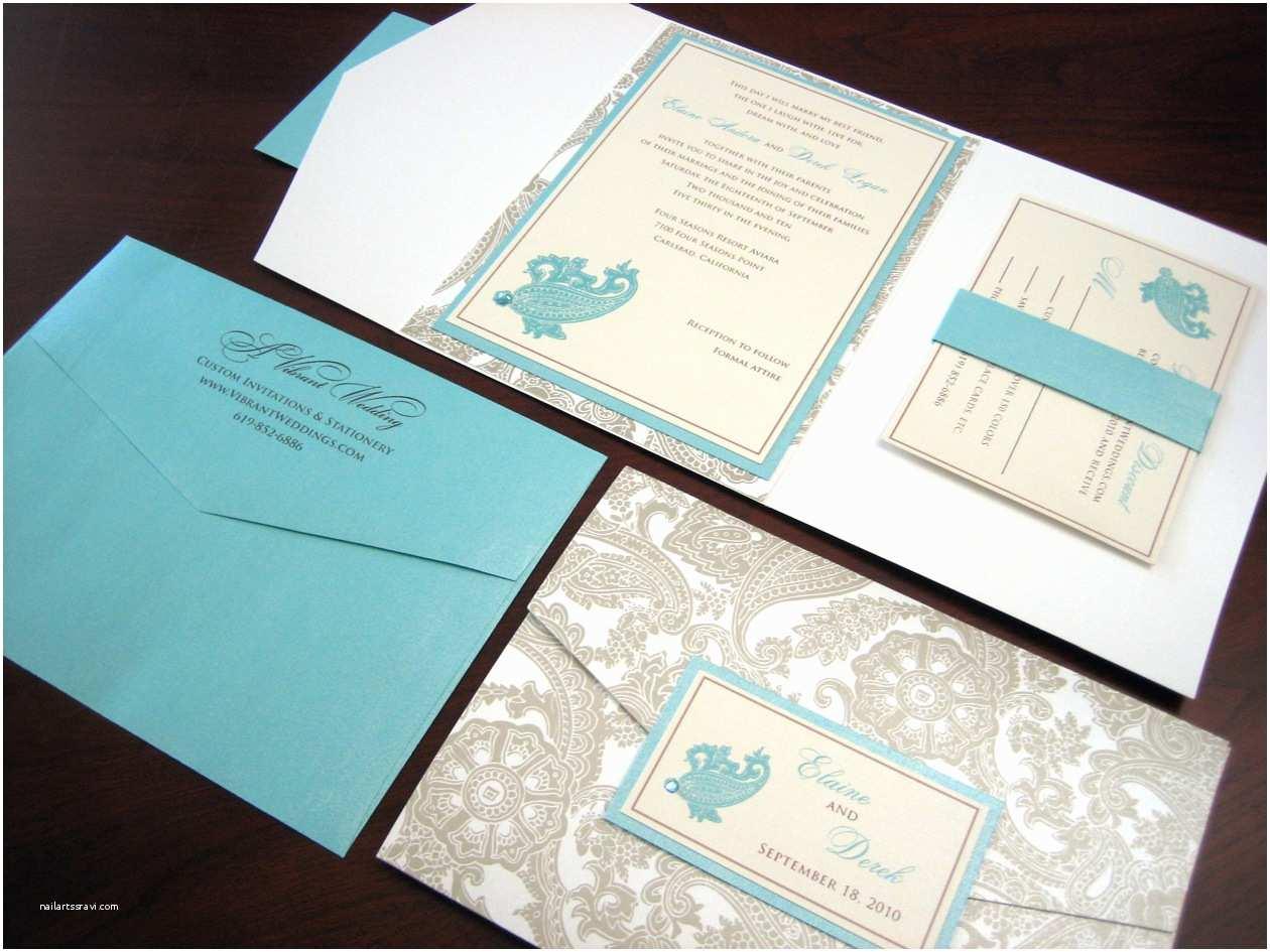Tiffany Blue Pocket Wedding Invitations March 19 2010 – A Vibrant Wedding