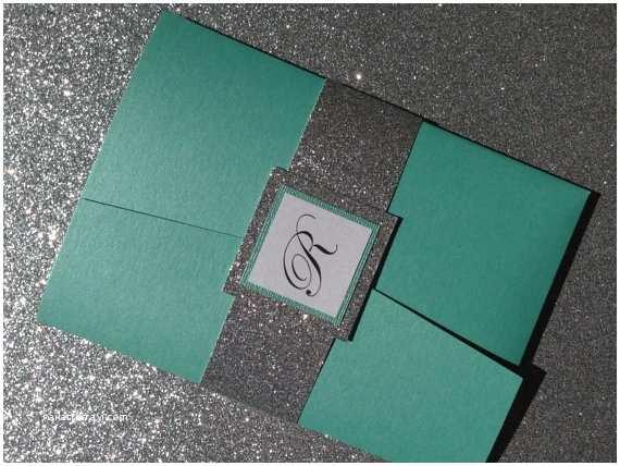 tiffany blue glitter pocketfold wedding invitations p 558
